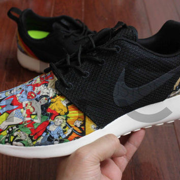 Nike Roshe Run Black DC Comics Superheroes V5 Edition Custom