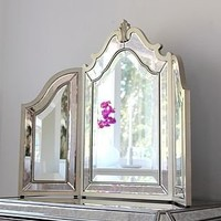 aubrey silver trimmed venetian table mirror by out there interiors | notonthehighstreet.com