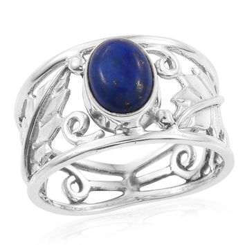 TGW 2.36 cts of Lapis Lazuli Sterling Silver Ring