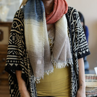 Multi Tone Knit Scarf