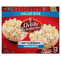 Orville Redenbacher's Kettle Korn Microwave Popcorn, Single Serve Bag, 12-Count - Walmart.com