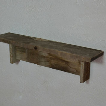 Wall shelf 18 wide 4 deep  gray with beautiful patina