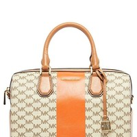ONETOW MICHAEL Michael Kors Women's Mercer Central Stripe Bag Orange