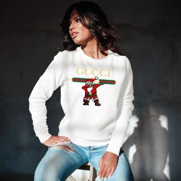 Dancing Santa GUCCI Inspired Unisex Crew-neck Sweatshirt [05081]