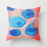 Sea Urchins & Coral Throw Pillow by DuckyB (Brandi)