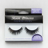NEW ID-1 1 pair 100% Real Mink Hair Thick Cross Long False eyelashes eye lashes