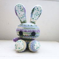 Amigurumi bunny, crochet bunny, purple bunny, bunny tail, rabbit doll, amigurumi animal, crochet amigurumi, ready to ship, handmade, kawaii