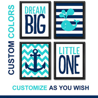 dream big nursery quote nautical wall art boy nursery art anchor whale ocean nursery nautical new baby decor gift for boys kids room decor