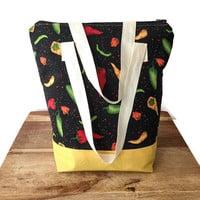 Large Insulated Lunch Bag, Large Lunch Tote, Large Insulated Picnic Bag, Extra Large Lunch Box, Insulated Cooler