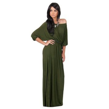 Off Shoulder Plus Size 2017 Autumn Dress Women Elegant Batwing Sleeve Maix Dress Party Long  Dress 4XL vestidos