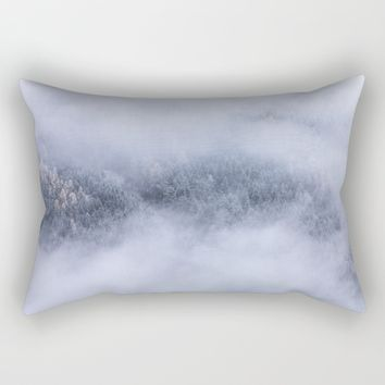 Beneath The Fog Rectangular Pillow by Mixed Imagery