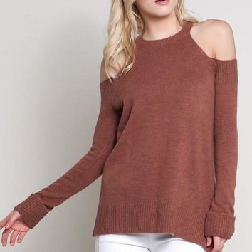 Solstice Cold Shoulder Sweater