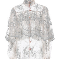 Ruffled Lace Blouse | Moda Operandi