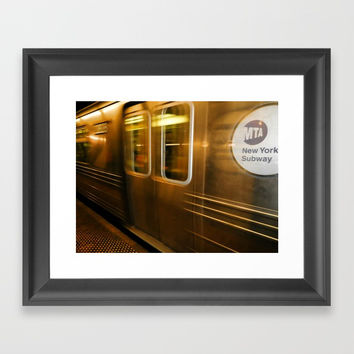 New York City subway Framed Art Print by lanjee