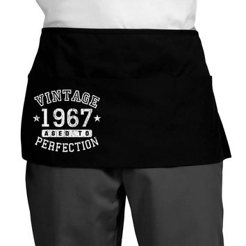 50th Birthday Vintage Birth Year 1968 Dark Adult Mini Waist Apron