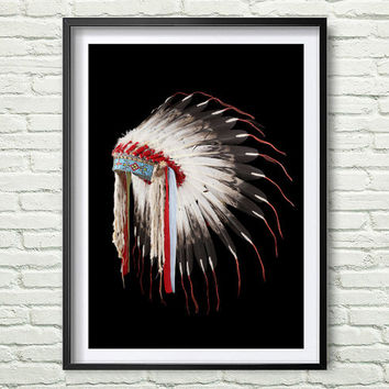 Images of indian head dresses in art