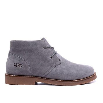 LFMON UGG 1006082 Ankle Women Men Fashion Casual Wool Winter Snow Boots Grey