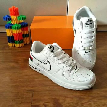 """Nike Air Force 1"" Unisex Sport Casual Multicolor National Flag Low Help Shoes Sneakers Couple Plate Shoes"