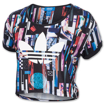 Women's adidas Originals ZX Flux Post Digital Cropped T-Shirt