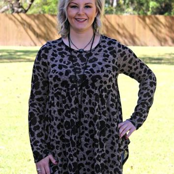 Completely Obsessed Leopard Long Sleeve Babydoll Top