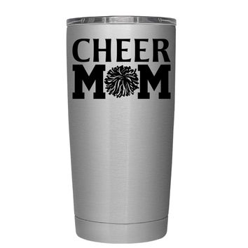 Cheer Mom Pom Pom 20 oz Tumbler Cup