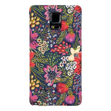 Colorful Vintage Bright Floral Pattern Galaxy Note 4 Case