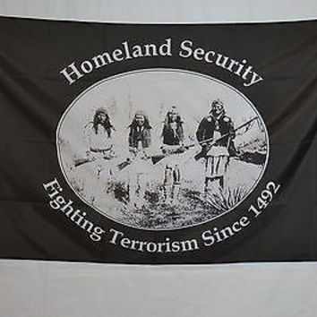 Homeland Security indian reserve wall basement garage room FLAG Banner 3x5