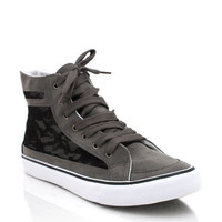 lace-panel-sneakers BEIGE BLACK GREY LTDENIM - GoJane.com