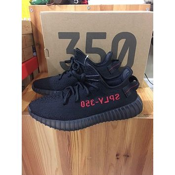 Come With Box NEW Adidas Yeezy 350 V2 Core Black Red 2017 Bred B 4a35a82eb