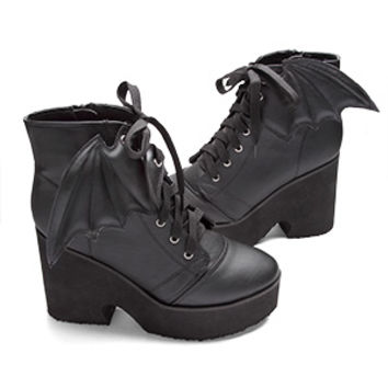 Winged Platform Booties