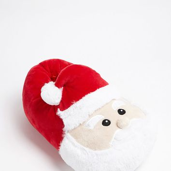 Santa Face Fleece Slippers