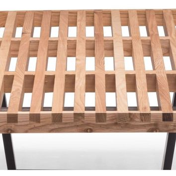 ZUO Modern Heywood Double Bench Natural 500113 Dining & Bedroom Benches