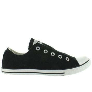 LMFUG7 Converse All-Star Chuck Taylor Slim Slip - Black Canvas Slip-On Laceless Sneaker