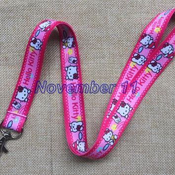 Lot 10Pcs Classic hello kitty Cartoon Mobile Cell Phone Lanyard Neck Straps Party Gifts MM925