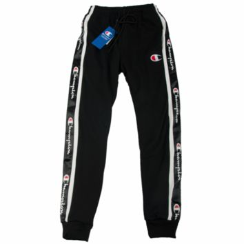 Champion autumn thin section sports pants casual couple models loose string pants black