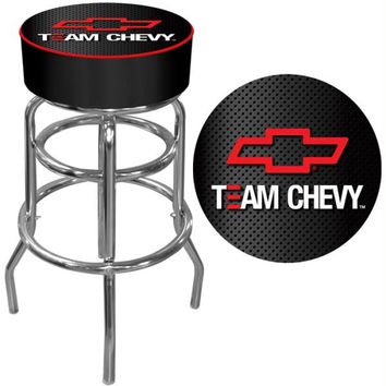 Team Chevy Racing Padded Bar Stool - Made In USA