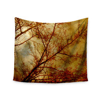 "Sylvia Coomes ""Gothic Red Tree"" Gold Nature Wall Tapestry"