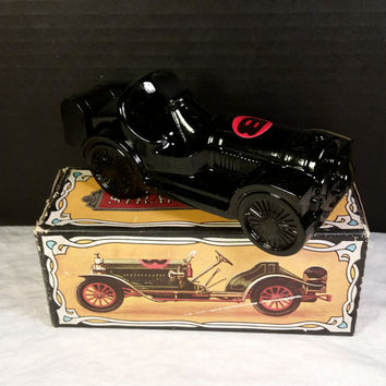Avon Straight Eight Car FULL of Windjammer Aftershave Decanter Bottle 1969 Straight Eight Collectible Bottle Man Cave Decor Avon Collectible