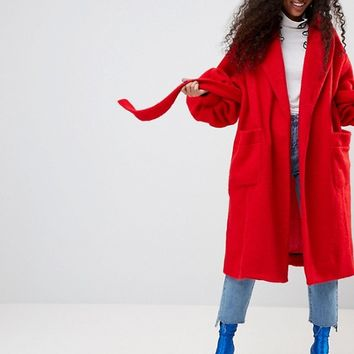 ASOS Made In Kenya Robe Coat With Balloon Sleeves at asos.com