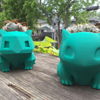 Bulbasaur Planter 3D Printed