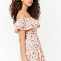 Floral Off-the-Shoulder Dress