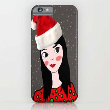 Christmas with you | Kids Painting | Only Love by Elisavet iPhone & iPod Case by Azima