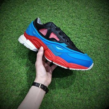 ONETOW Raf Simons x Adidas Consortium Ozweego 2 Black Red Lucora 2018 Women Men Casual Trending Running Sneakers