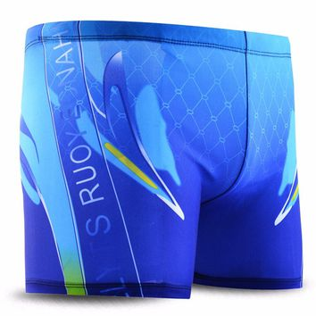 Professional Beach Shorts bouncy Hot Swimwear Boxer Briefs  Quick-drying shorts Men Breathable Men's Swimshorts Swim Trunks
