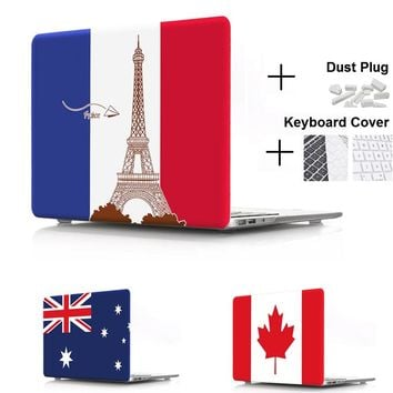 Flag Hard Case Protector for MacBook 12 inch Air 13 inch Pro 13 Pro Retina 13 inch Touch Bar 13 With Keyboard Cover