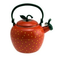 Supreme Housewares Stainless Steel Strawberry Whistling Tea Kettle