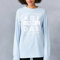 adidas + UO Long-Sleeve Stenciled Logo Tee | Urban Outfitters