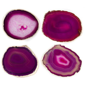 Set of 4 Agate Geode Coasters