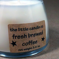 Soy Jar Candle Fresh Brewed Coffee Scented by littlecandles