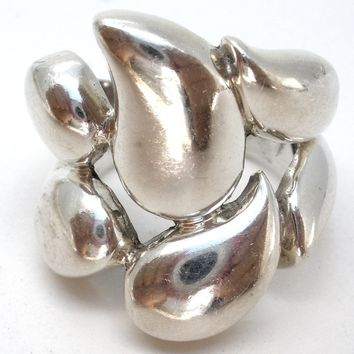 Wide Sterling Silver Ring Size 6.5